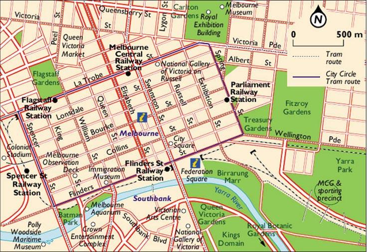 墨尔本市区地图   map;
