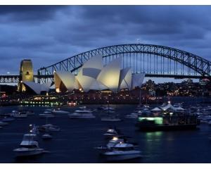澳洲人文景观_悉尼景观澳大利亚帆船风景蓝天人文悉