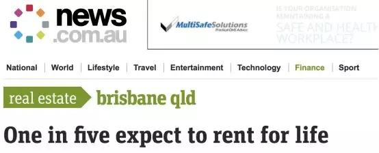 """五分之一澳人将终身租房?昆州""""荣登""""榜首!只因房价太贵买不起."""